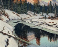 winter river landscape by matt lindstrom