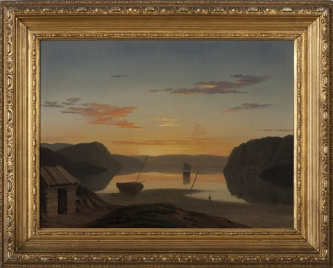 fanciful view of mount desert and the entrance to somes sound by mary blood mellen