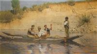 boatmen at rest by carl röchling