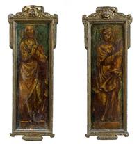 deux figures féminines (vertus ou allégories) (pair) by domenico beccafumi