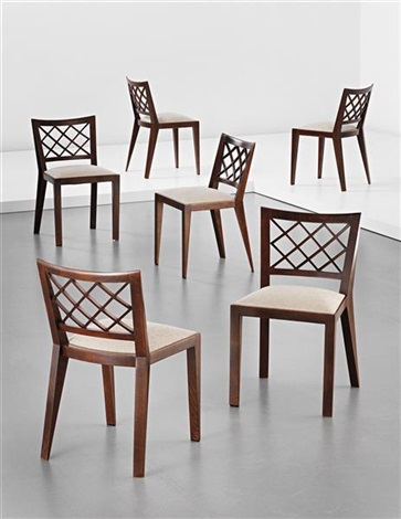 croisillon dining chairs set of 6 by jean royère