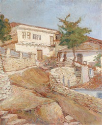 houses at balcic by amelia tomescu-grigorescu