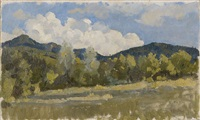 paesaggio collinare by umberto coromaldi