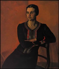portrait of frances holgate by lilias torrance newton