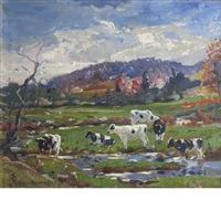 down in the pasture by george glenn newell