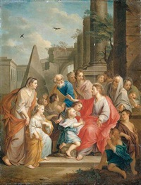 christ blessing the little children by jacob andries beschey