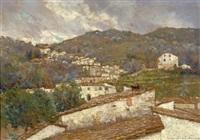 landscape dell'appenino toscano by adolfo tommasi