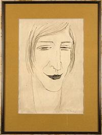 portret hanny rudzkiej (from cyklu maski) by tadeusz waskowski