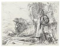 filosofo in piedi e due figure - der stehende philosoph mit dem großen buch und zwei weitere figuren by giovanni battista tiepolo