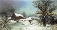 a faggot gatherer in winter by w. berry