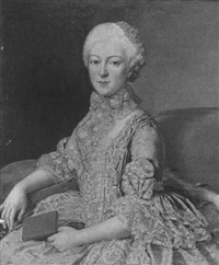 portrait d'une dame de qualite by christian friedrich reinhold lisiewski