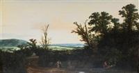 paysage de campagne by cornelis hendriksz vroom