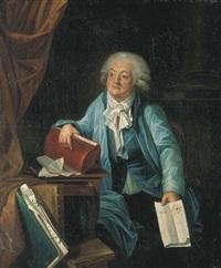 portrait du comte mirabeau tenant l'adresse au roi by laurent dabos