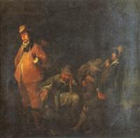 réunion de fumeurs à la taverne by simon kick