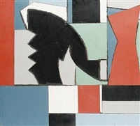 abstract head, formica shapes by edward rogers