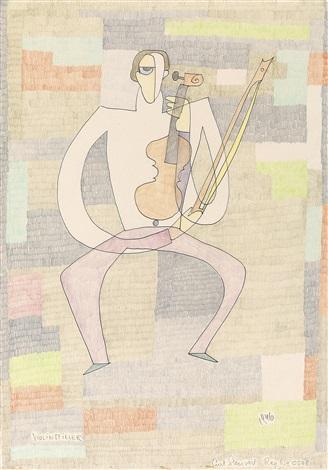 violinspieler by curt stenvert