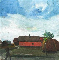 red house in mártély by béla endre