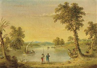 landscape with figures and boat by john quidor