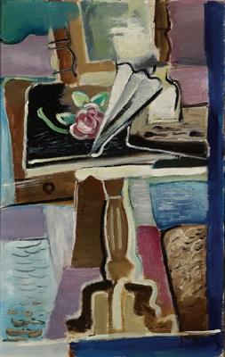 tisch mit fächer und rose by ernst paar