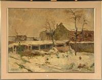 coin de ville sous la neige by victor simonin
