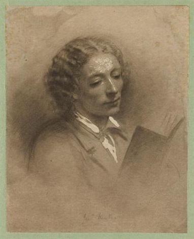 portrait of john keats after ann mary newton by frederick hollyer