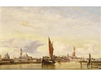 looking from the lagoon towards the giudecca by edward william cooke