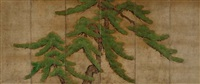 an old pine by japanese school-kano (17)