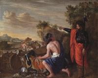 viaggio di giacobbe con guerriero, pastori e armenti by andrea di lione