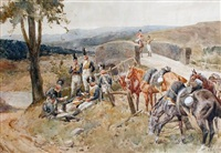 an outpost of the light dragoons, peninsula war by william barnes wollen