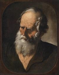 brustbild eines bärtigen mannes by andrea sacchi