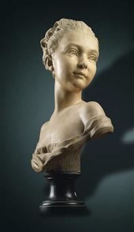 büste einer jungen dame by j.b. lemogne