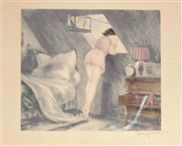 attic room (sous le toit) by louis icart