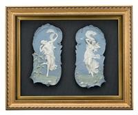 allegorien des tages und der nacht (2 works in 1 frame) by älteste volkstedter porzellanfabrik (co.)