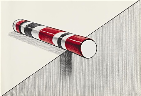 candy cane by wayne thiebaud