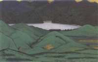 mountain lake by kyujin yamamoto