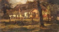 a summer's day on the farm by johannes evert hendrik akkeringa