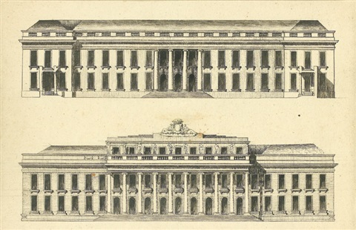 projet de château ou de grand hôtel by claude nicolas ledoux