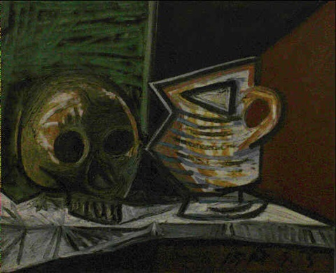 NATURE MORTE AU CRANE ET POT by Pablo Picasso on artnet