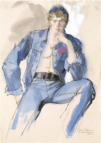 Male Model In Denim Jacket And Jeans By Brian Julian Stonehouse On