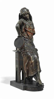 model of a tambourine player by louis hottot