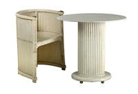oval table and an armchair (set of 2) by hans gunther reinstein