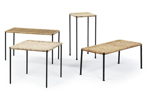 side tables model 4348 set of 4 by carl auböck