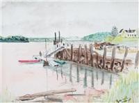 dock scene by malvin marr albright