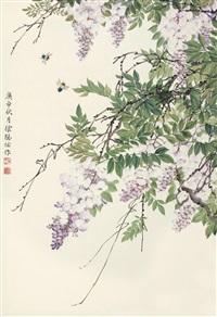 紫藤 (wisteria) by xu congyou