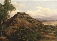 the pyramid of the sun, teotihuacan, mexico by jean baptiste louis (baron gros) gros