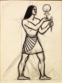 egyptian god figure by dox thrash