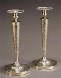 candlesticks (pair) by ambassador (co.)