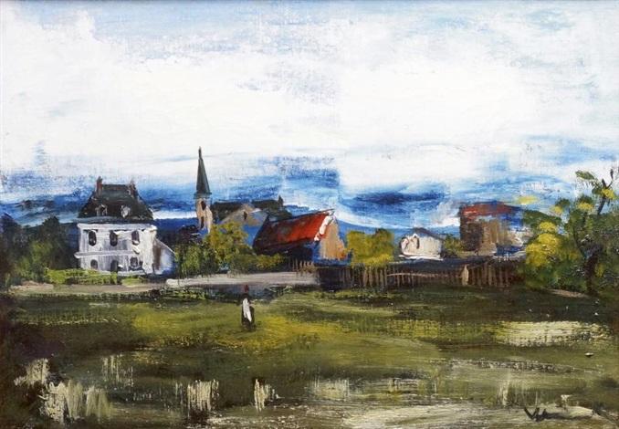 le village by maurice de vlaminck