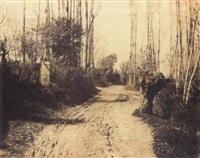 chemin entre la garenne de sèvres et gallardon by henri-victor regnault