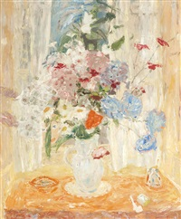 poppies and scabious no 2 by william george gillies